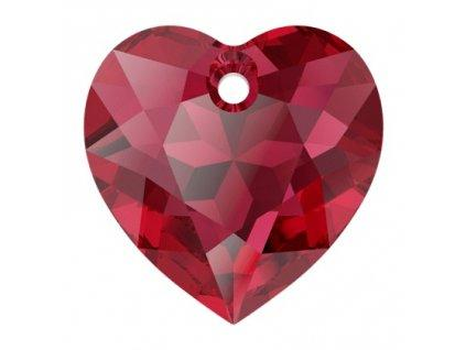 Heart Cut 6432 14.5 mm, Scarlet, Swarovski, Austria