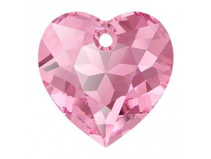 Heart Cut 6432 14.5 mm, Rose, Swarovski, Austria