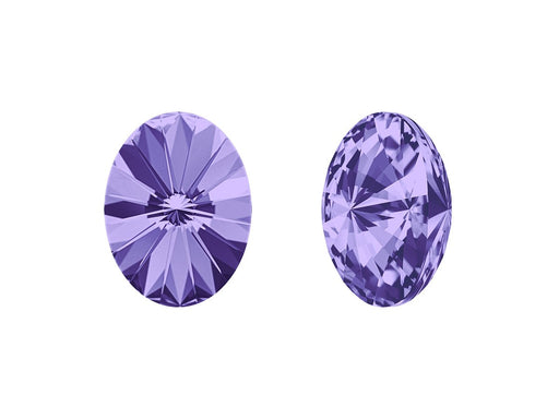 4122 Oval Rivoli Fancy Stone 14x10.5 mm, Tanzanite Platinum Foiled, Swarovski, Austria