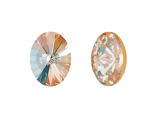 4122 Oval Rivoli Fancy Stone 14x10.5 mm, Crystal Peach DeLite, Swarovski, Austria