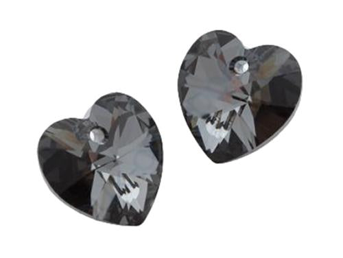 Xilion Heart 6228 14.4x14 mm, Crystal Silver Night, Swarovski, Austria