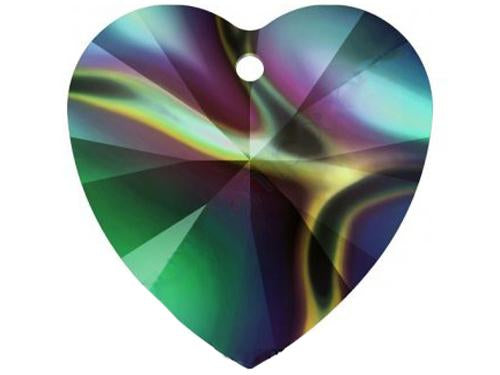 Xilion Heart 6228 14.4x14 mm, Crystal Rainbow Dark, Swarovski, Austria