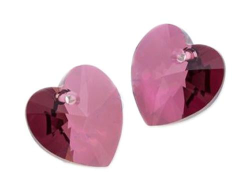 Xilion Heart 6228 14.4x14 mm, Crystal Lilac Shadow, Swarovski, Austria