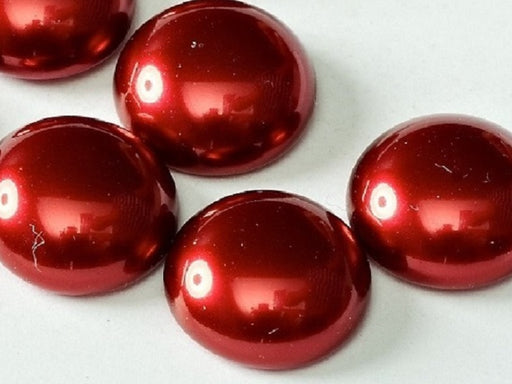 10 pcs Cabochon, 14mm, Pearl Brick, Czech Glass