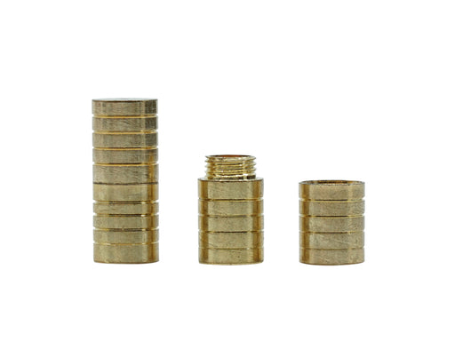 1 pc Screw Clasp 6x15 mm, Gold, Metal