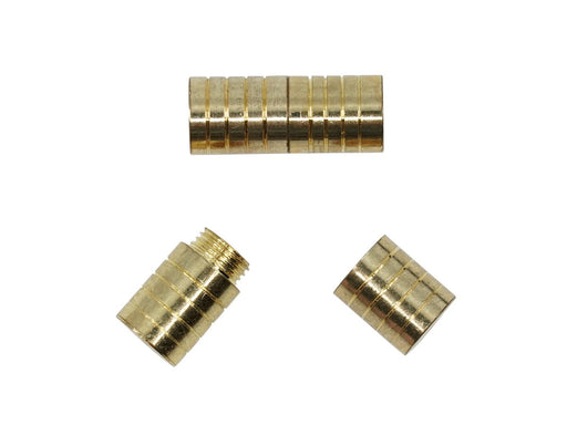 Screw Clasp 6x15 mm, Gold, Metal