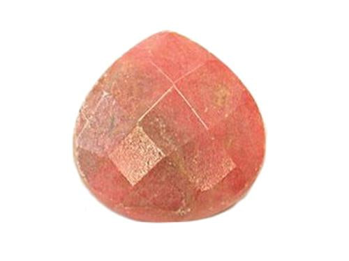 Hand Cut Semi-precious stones Wide Drop shape 16x16x6.5 mm, Rhodonite, Minerals,