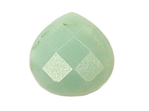 Hand Cut Semi-precious stones Wide Drop shape 16x16x6.5 mm, Amazonite, Minerals,
