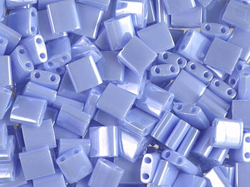 Tila™Beads 5x5 mm, 2 Holes, Opaque Light Periwinkle Luster, Miyuki Japanese Beads