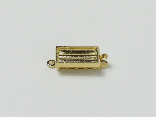 Clasps 13x7 mm, 23KT Gold Plated, Metal