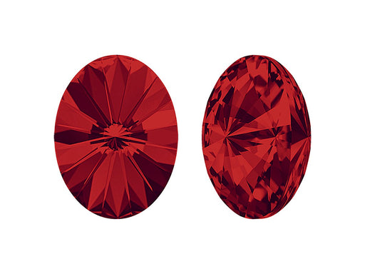 4122 Oval Rivoli Fancy Stone 18x13.5 mm, Light Siam Platinum Foiled, Swarovski, Austria