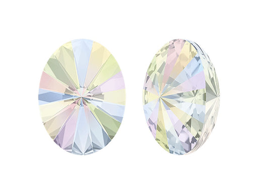 4122 Oval Rivoli Fancy Stone 18x13.5 mm, Crystal AB Platinum Foiled, Swarovski, Austria