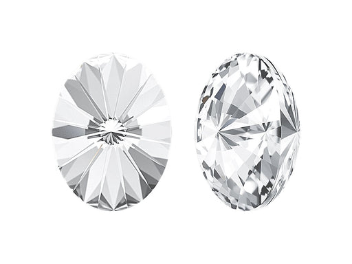 4122 Oval Rivoli Fancy Stone 18x13.5 mm, Crystal Platinum Foiled, Swarovski, Austria