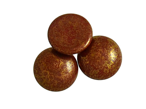 1 pc Cabochon Par Puca®, 18mm, Opaque Choco Bronze, Czech Glass