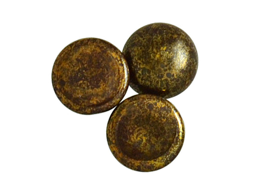 1 pc Cabochon Par Puca®, 18mm, Opaque Dark Choco Bronze, Czech Glass