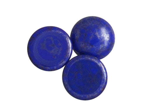 1 pc Cabochon Par Puca®, 18mm, Opaque Sapphire Silver, Czech Glass