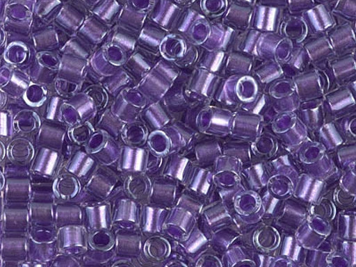 Delica Seed Beads 8/0, Crystal Sparkling Purple, Miyuki Japanese Beads