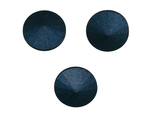 Matubo Rivoli 14 mm, Metallic Suede Dark Blue, Czech Glass