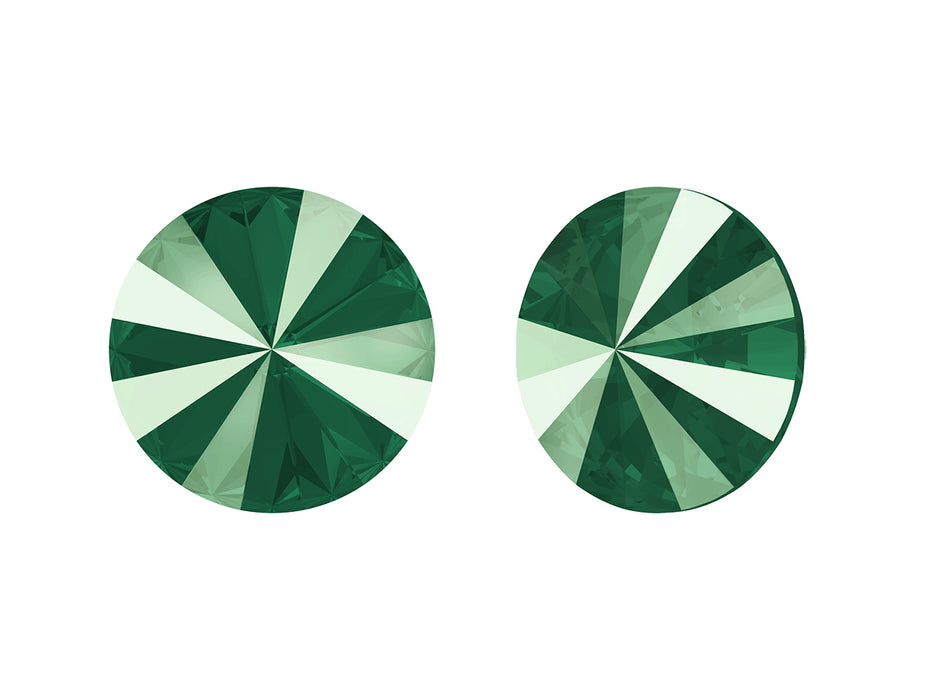 Rivoli Stones 1122 14 mm, Crystal Royal Green, Swarovski, Austria