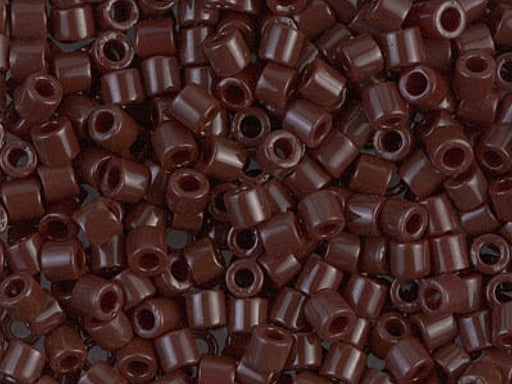 Delica Seed Beads 8/0, Opaque Chocolate Brown, Miyuki Japanese Beads