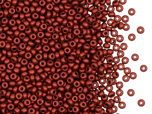 Rocailles Seed Beads 9/0, Lava Red, Czech Glass