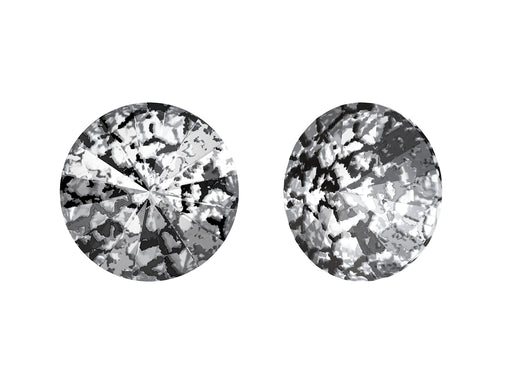 Rivoli Stones 1122 14 mm, Crystal Black Patina Platinum Foiled, Swarovski, Austria