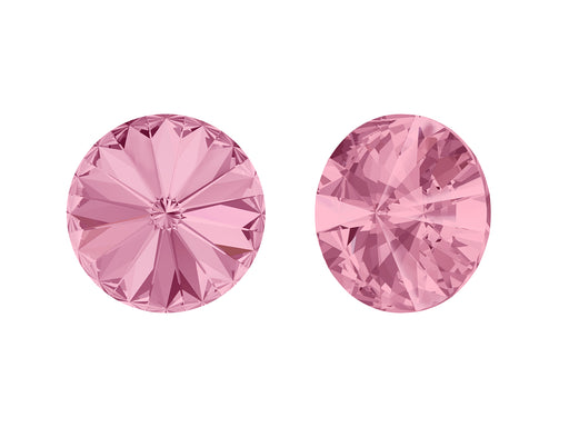 Rivoli Stones 1122 14 mm, Light Rose Platinum Foiled, Swarovski, Austria