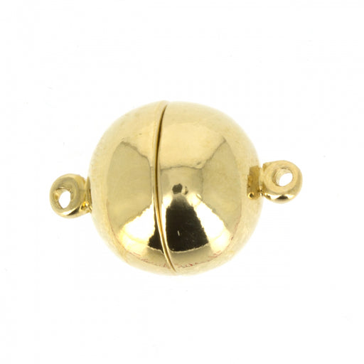 Magnetic Clasp 12 mm, 23KT Gold Plated, Metal