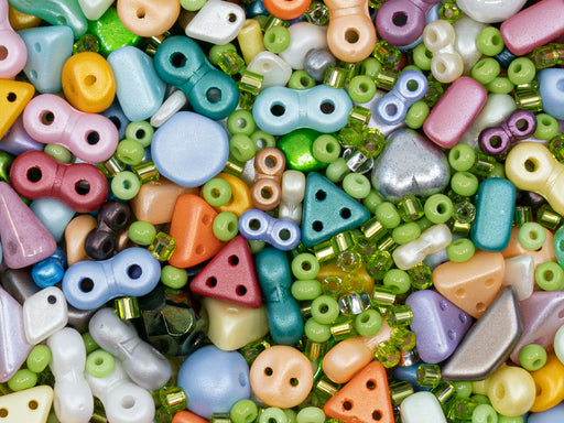 Glass Bead Mix , Multicolored, Czech Glass