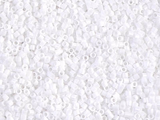 Delica Seed Beads 15/0, Opaque Chalk White, Miyuki Japanese Beads