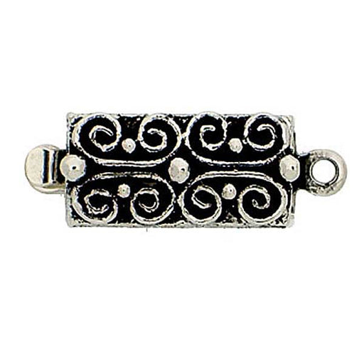 Clasps 13x6 mm, Old Palladium Plated, Metal