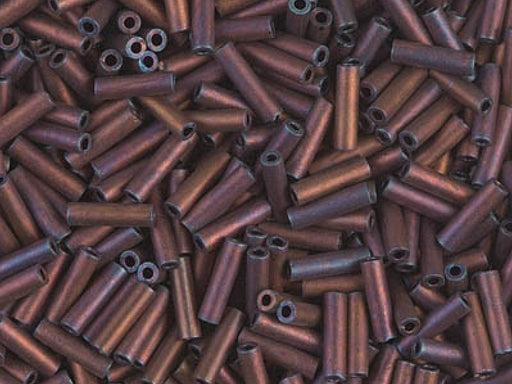 Bugle Beads 6x1.7 mm, Matte Metallic Copper, Miyuki Japanese Beads