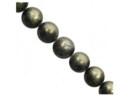 Semi-precious Stones 8 mm, Pyrite,