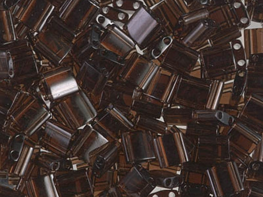 Tila™Beads 5x5 mm, 2 Holes, Transparent Brown, Miyuki Japanese Beads