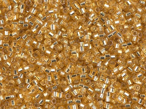 Delica Beads Cut 11/0, Gold Silver Lined, Miyuki Japanese Beads