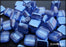 40 pcs 2-hole Tile Beads, 6x6x3.2mm, Pearl Dark Blue, Czech Glass