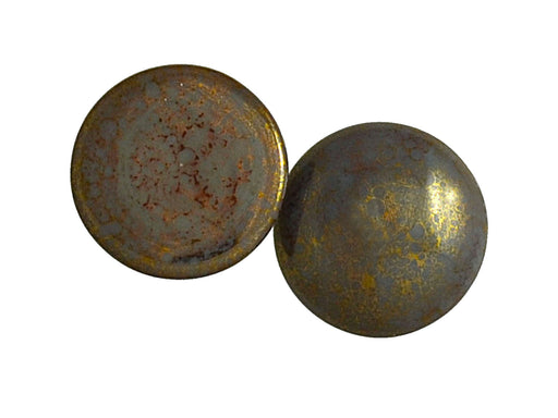 1 pc Cabochon Par Puca®, 25mm, Opaque Gray Bronze, Czech Glass