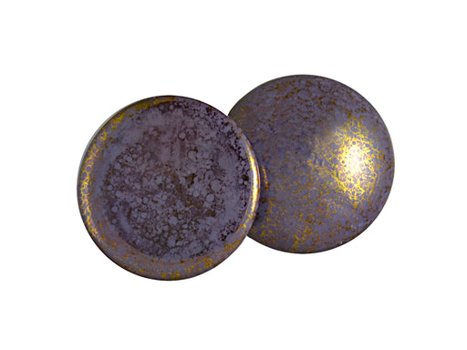 1 pc Cabochon Par Puca®, 25mm, Opaque Amethyst Bronze, Czech Glass