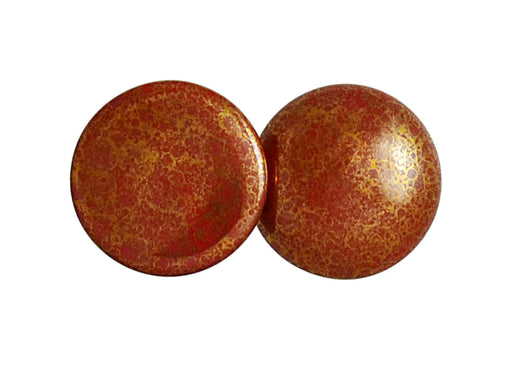 1 pc Cabochon Par Puca®, 25mm, Opaque Choco Bronze, Czech Glass