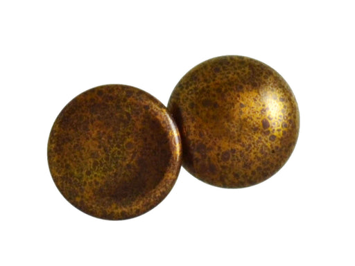 1 pc Cabochon Par Puca®, 25mm, Opaque Dark Choco Bronze, Czech Glass