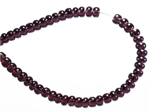20 g 11/0 Seed Beads Preciosa Ornela, Dark Amethyst Transparent, Czech Glass