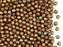 100 pcs Fire Polished Faceted Beads Round, 3mm, Silky Gold Iris Matte, Czech Glass