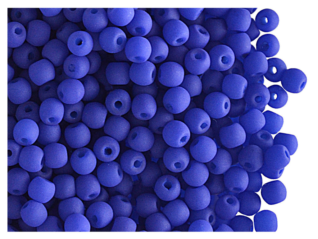 Round NEON ESTRELA Beads, 3mm, Dark Blue, Czech Glass