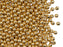 Round Beads 3 mm, Crystal 24KT Gold Plated, Czech Glass