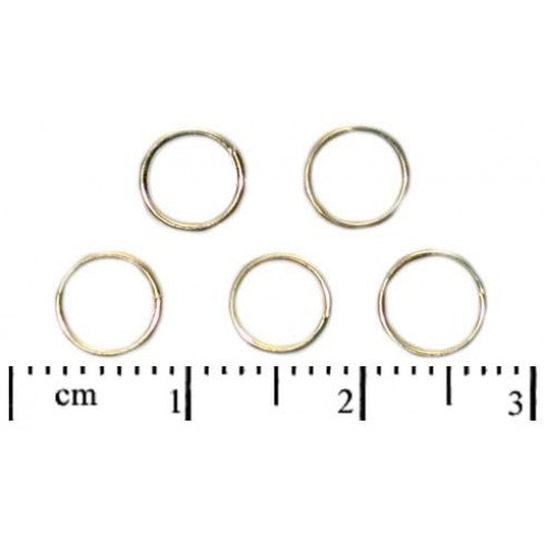 20 pcs Double Jump Ring, 5mm, Gold Plated