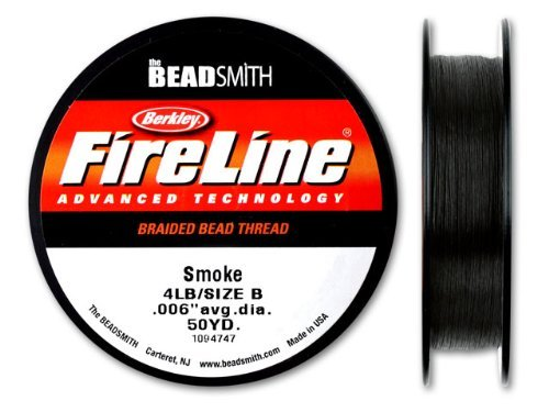 1 pc Beadsmith Fireline 4Lb, 0.13mm (0.004inch) x 45.7m (50yd), Smoke Gray