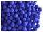 50 pcs Round NEON ESTRELA Beads, 4mm, Dark Blue, Czech Glass