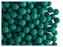 50 pcs Round NEON ESTRELA Beads, 4mm, Emerald Green, Czech Glass