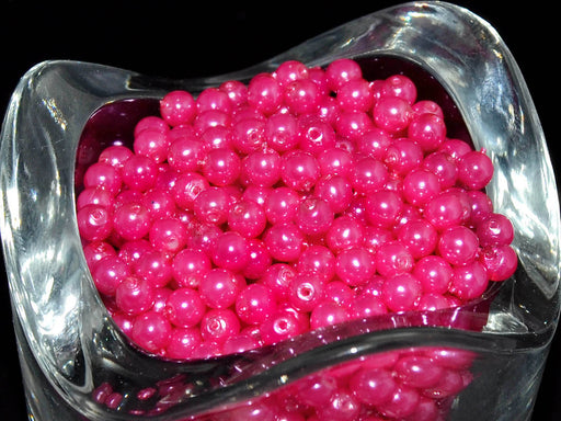 100 pcs Round Pearl Beads, 4mm, Pastel Pink, Czech Glass