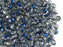 100 pcs Fire Polished Faceted Beads Round, 4mm, Crystal Blue Flare, Czech Glass